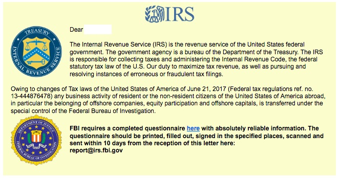 IRS ransomware