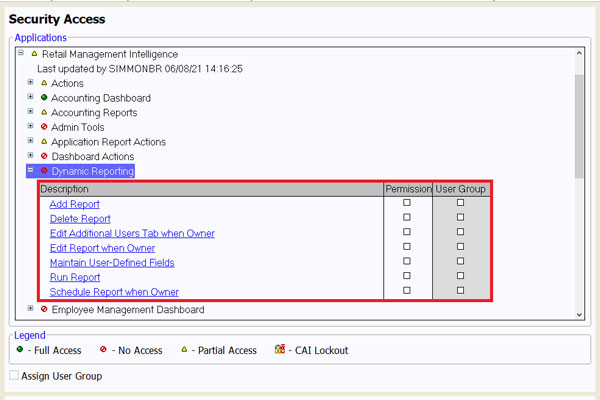 How To Set Up Dynamic Reporting Security Access